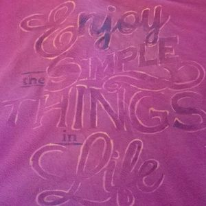 Enjoy the simple things in life Size Large T-shirt
